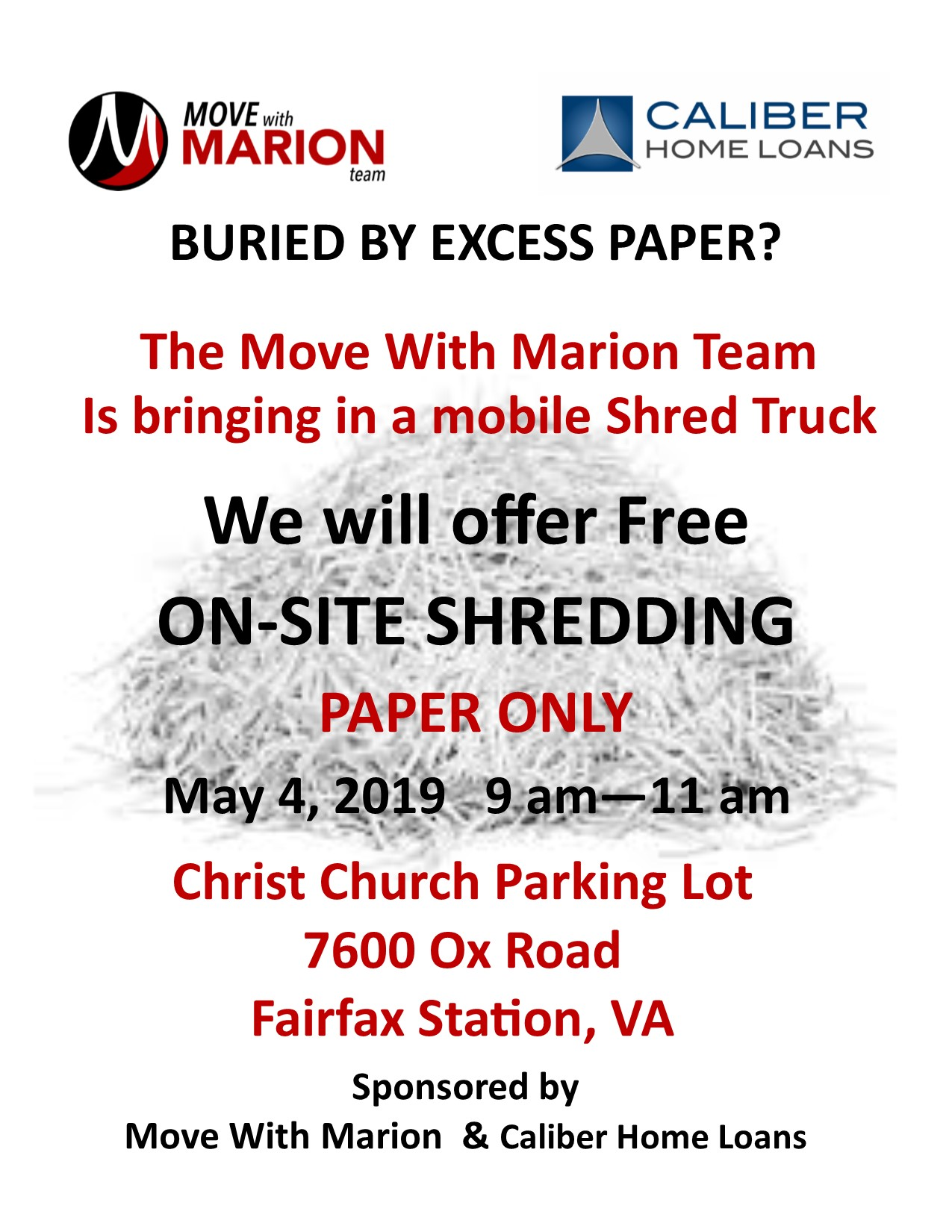 FREE SHRED EVENT - Saturday May 4 - Fairfax Station Real Estate Blog